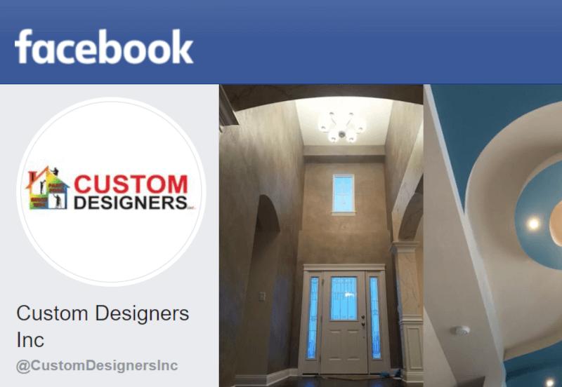 Custom Designers Inc Facebook